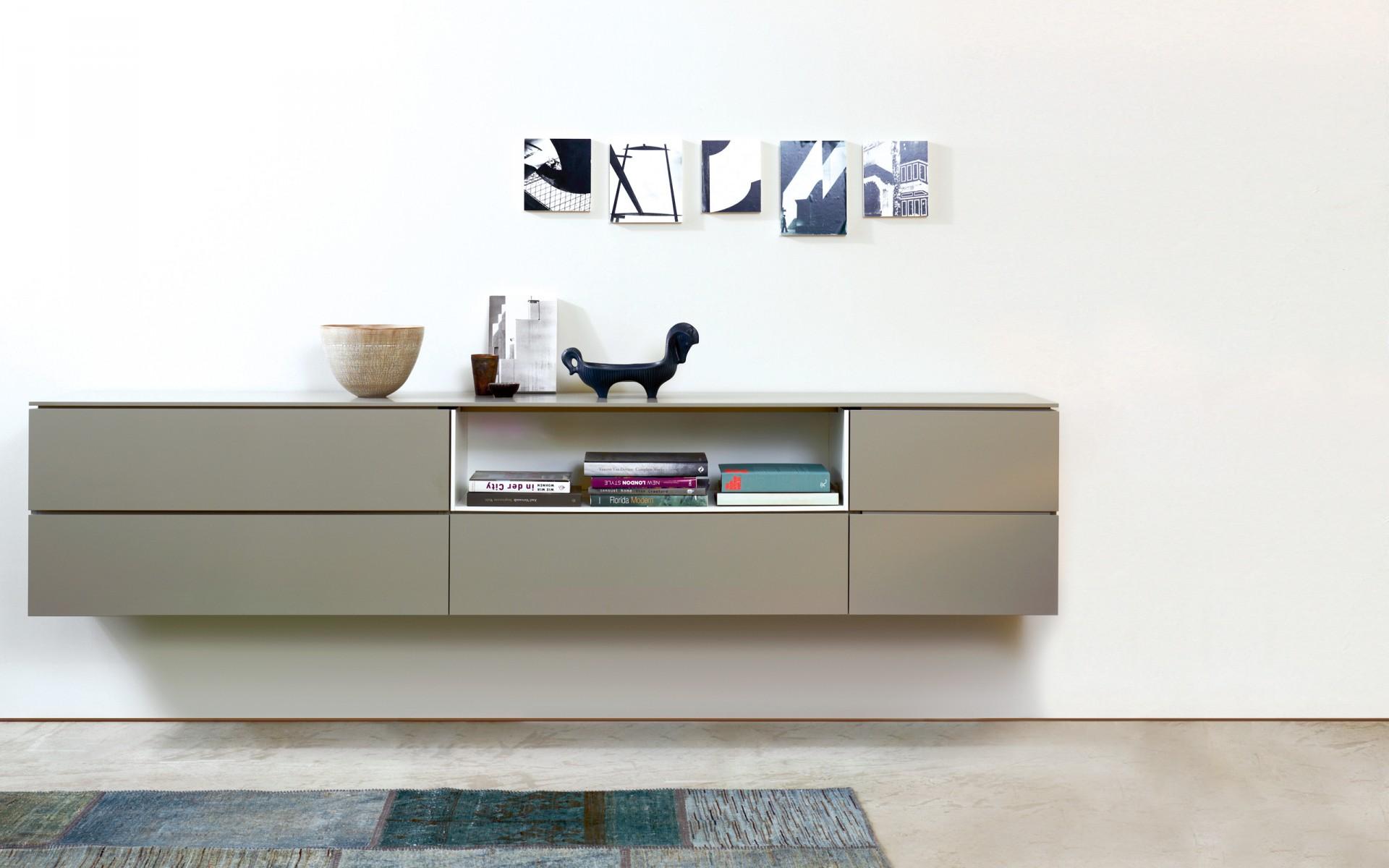 sideboard wandh ngend. Black Bedroom Furniture Sets. Home Design Ideas